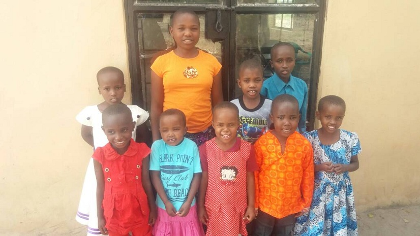 Group of kids and their sponsors